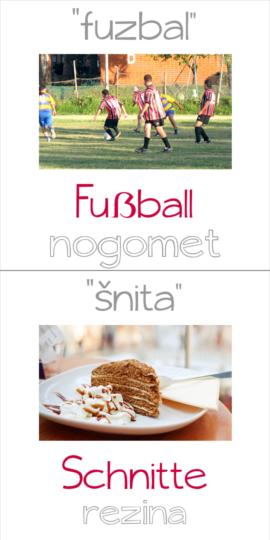 fuzbal in šnita