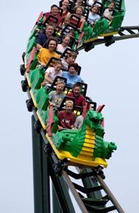 Vlak Ognjeni zmaj v Legolandu