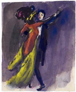 slika Emil Nolde - Couple Dancing