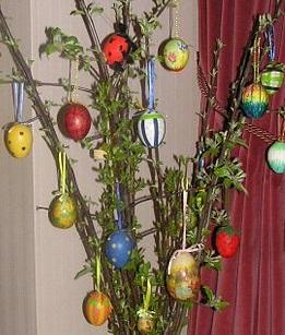 Velikonočni šopek – Osterstrauß.